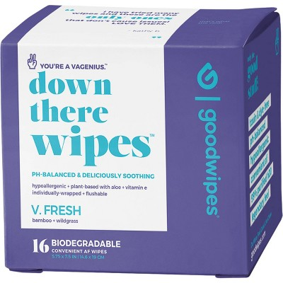 Goodwipes Fresh Down There Wipes - 16ct