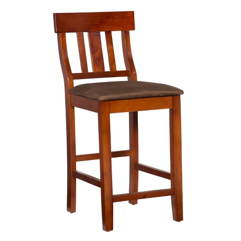 "Torino Contemporary 24"" Counter Stool Hardwood/Brown - Linon - image 1 of 4"