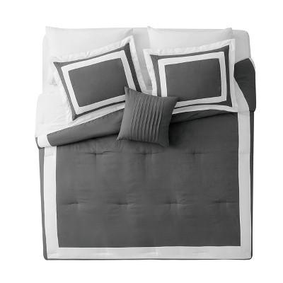 Gray Avondale Duvet Cover Set (Queen)3pc - VCNY Home