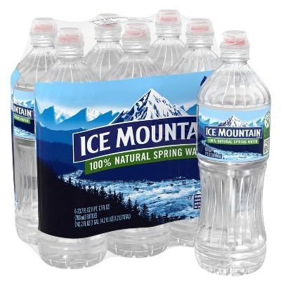 Ice Mountain Brand 100% Natural Spring Water - 6pk/23.7 fl oz Sport Cap Bottles