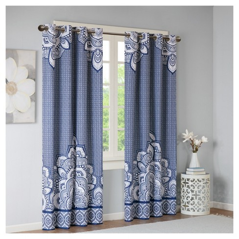 "Aimee Printed Blackout Window Curtain Panel (50""x84"") - image 1 of 5"