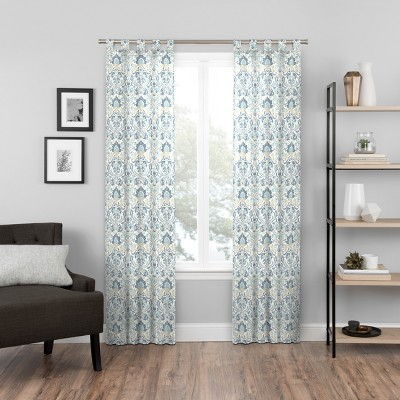 Halford Panel Pair Blue/Damask/Floral 60x95 - Pairs To Go