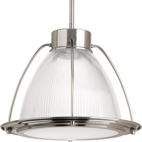 "Progress Lighting P5143-LED Prismatic Glass Single Light 13"" Wide LED Pendant - image 1 of 1"