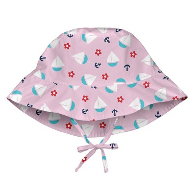 i play Baby Girls' Sun Protection Bucket Hat - Light Pink S/M