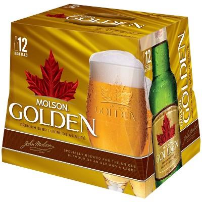 Molson Golden Premium Beer - 12pk/12 fl oz Bottles