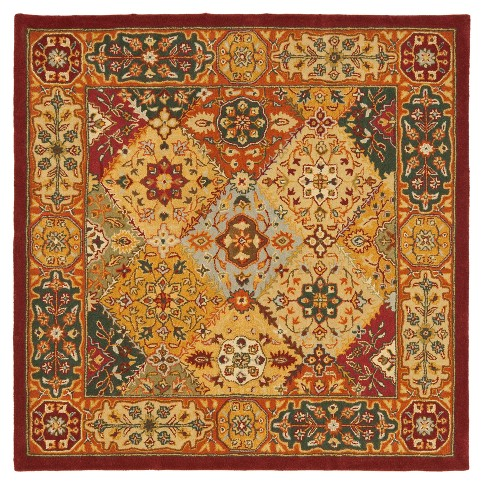 Floral Tufted Square Area Rug 8'X8' - Safavieh - image 1 of 2