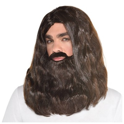 Beard and Wig Halloween Costume Set