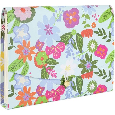 Paper Junkie Pink Floral Expanding File Folder Organizer with 10 Pockets (Letter Size)