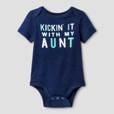 Baby Boys' Kickin with My Aunt Bodysuit - Cat & Jack™ Navy 6-9 Months