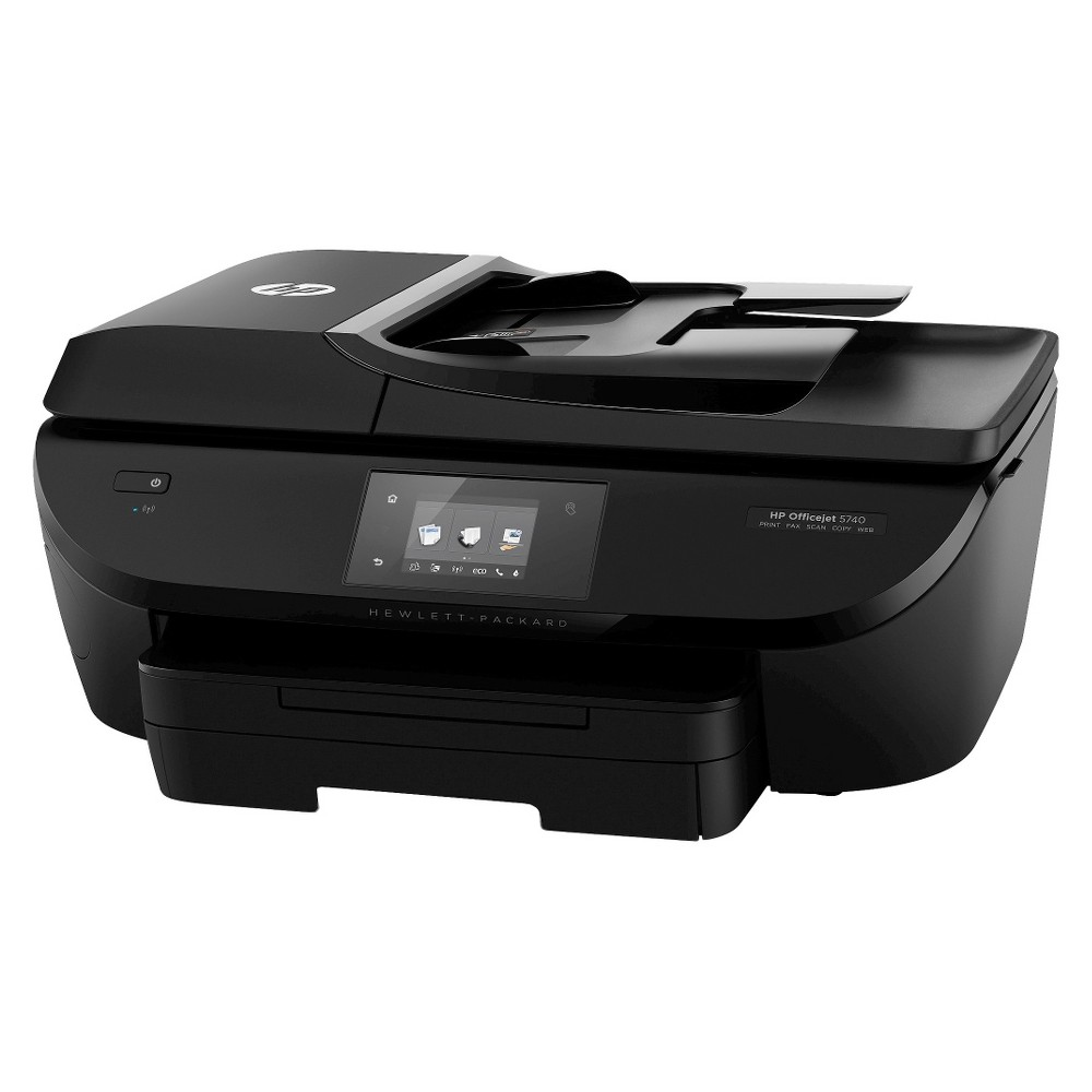 HP OfficeJet 5740 AiO Printer - Black (B9S76A_B1H) This sophisticated e-all-in-one prints laser-quality documents and lab-quality photos with features to help your family stay productive. Intuitive mobile printing features make it easy to print from your smartphone, tablet and connected-PC's. Color: Black.