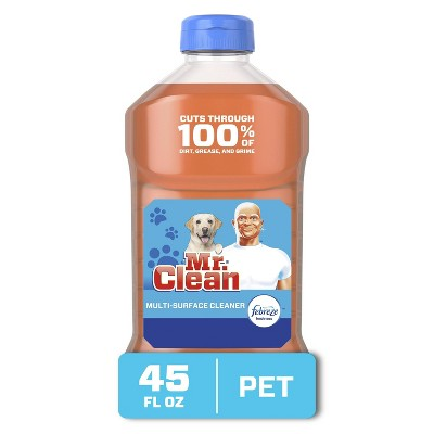 Mr. Clean Pet Multi-Surface Cleaner with Febreze Odor Defense - 45 fl oz