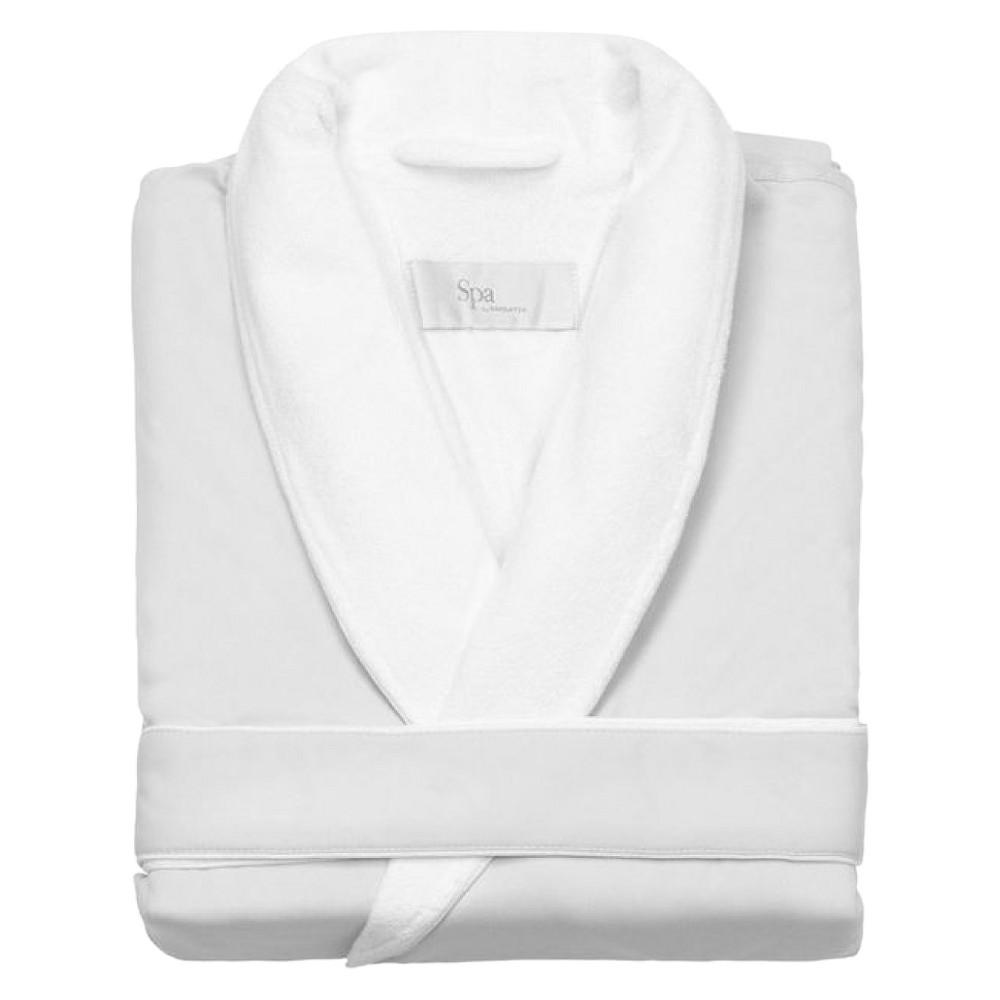 Kassatex Spa Bath Robe - White (L/XL), Adult Unisex