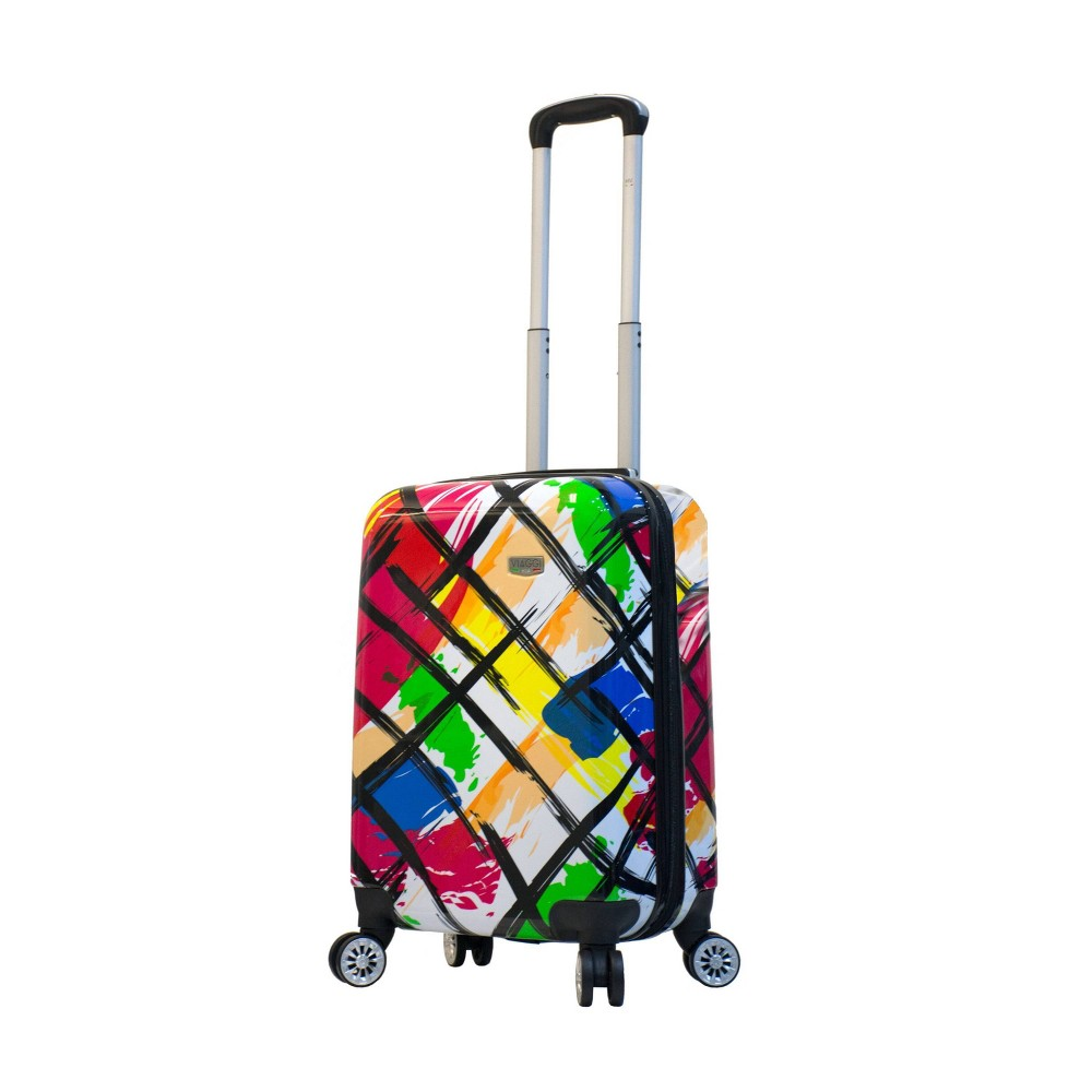 "Image of ""Mia Viaggi ITALY 20"""" Hardside Carry On Suitcase - Pop Brush, MultiColored"""