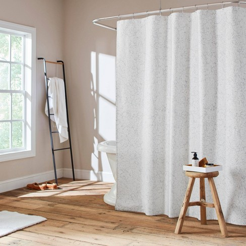 Floral Maze Shower Curtain Blue - ED by Ellen DeGeneres - image 1 of 3
