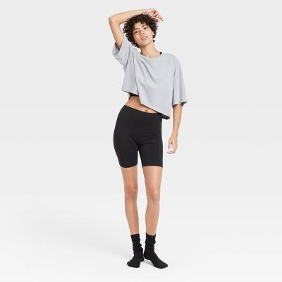Women's Lounge Bike Shorts - Colsie™ Black