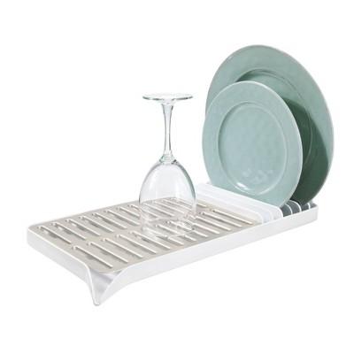 iDESIGN Austin Compact Dish Drainer White