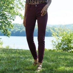 Women's Mid-Rise No Gap Waist Twill Skinny Pants - Knox Rose™