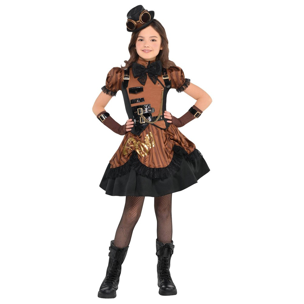 Vintage Style Children's Clothing: Girls, Boys, Baby, Toddler Halloween Girls Steampunkd Halloween Costume XL Girls MultiColored $40.00 AT vintagedancer.com