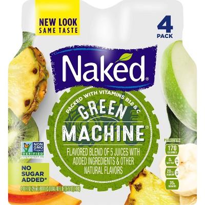 Naked Juice Green Machine Vegan Fruit Smoothie 10oz 4pk