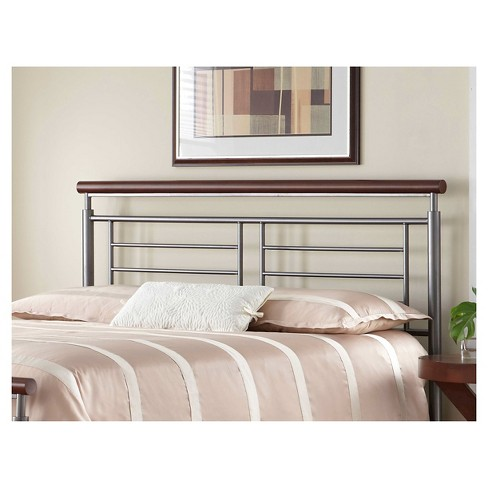 Fontane Headboard Silver/Cherry Metal (King) - Fashion Bed Group - image 1 of 1