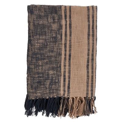 "50""x60"" Striped Throw Blanket with Tassels - Saro Lifestyle"
