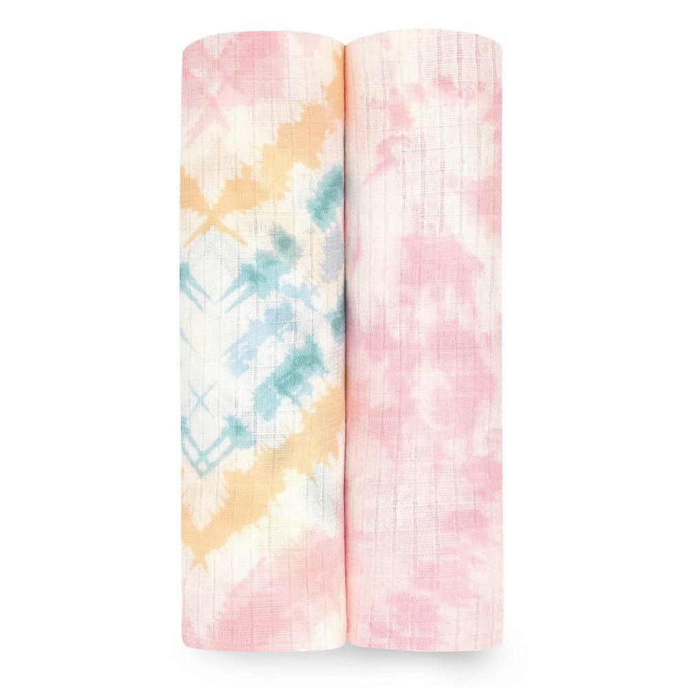 Aden Anais Essentials Silky Soft Swaddle Color Burst 2pk