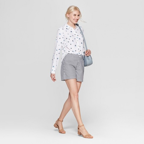 255064c582377 Women s Heart Print Long Sleeve Crepe Blouse - A New Day™ White. Shop all A New  Day