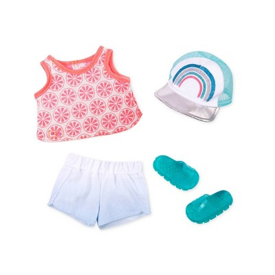 """Our Generation Sporty Fashion Outfit for 18"""" Dolls with Rainbow Cap & Skateboard Accessory"""