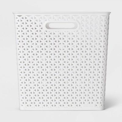 """13"""" Y Weave Cube Storage Basket White - Room Essentials™"""