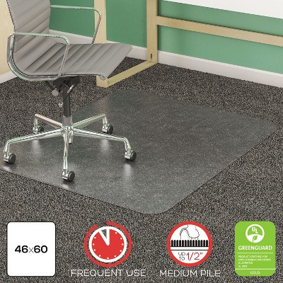 4'x5' Rectangle Solid Office Chair Mat Clear - Deflecto