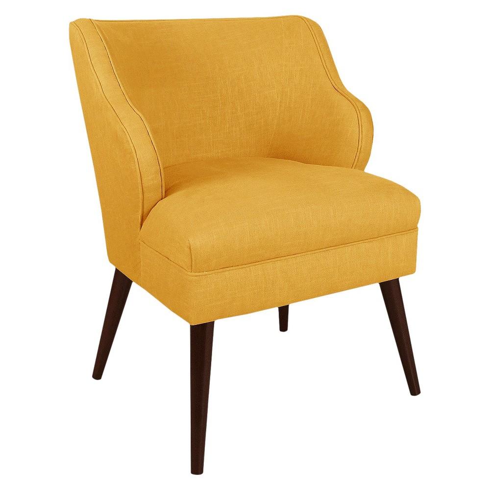 Mandolene Mid-Century Arm Chair Linen French Yellow - Project 62