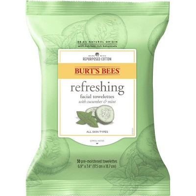 Burt's Bees Facial Cleansing Towelettes - 30 ct