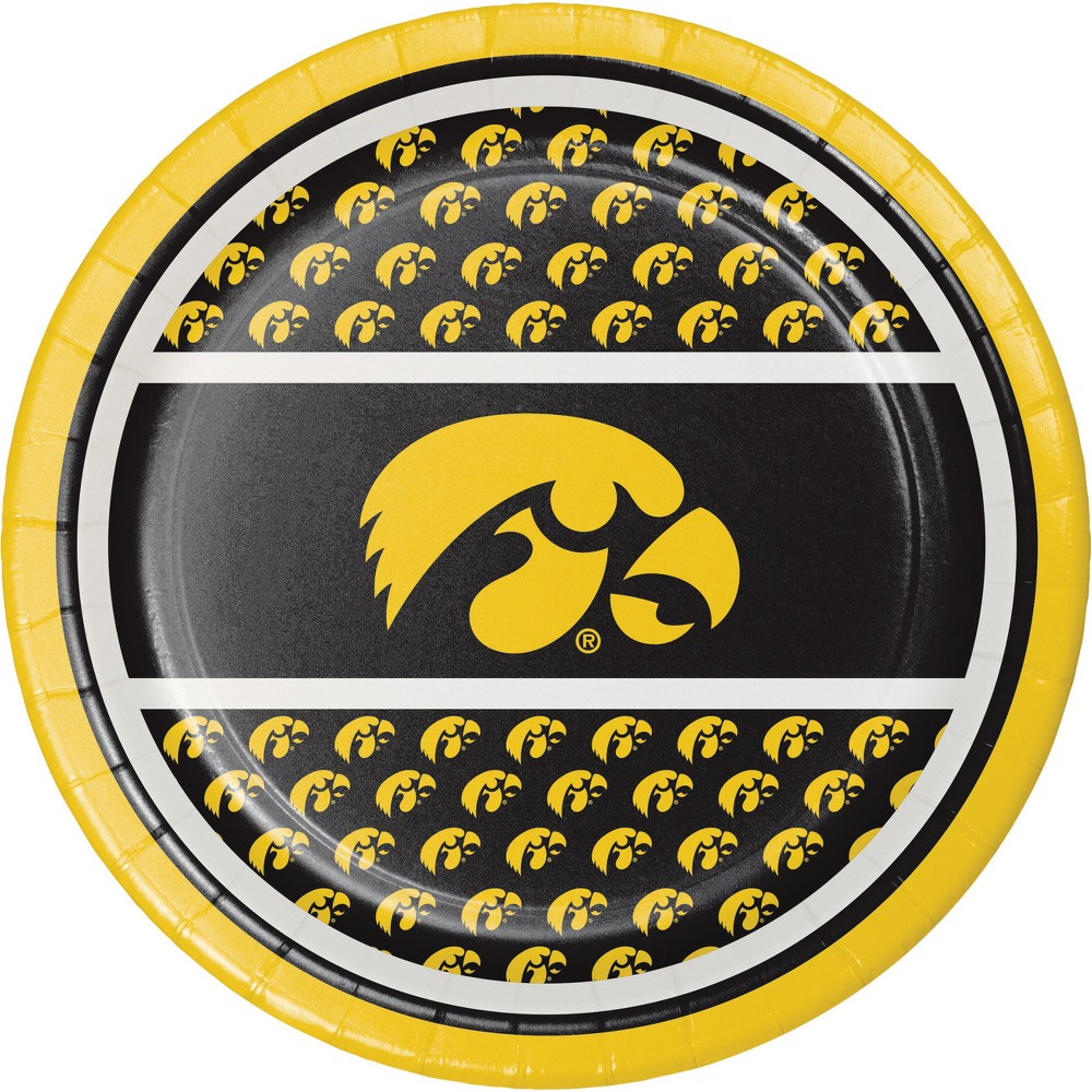 Image of 24ct University Of Iowa Hawkeyes Dessert Plates Red