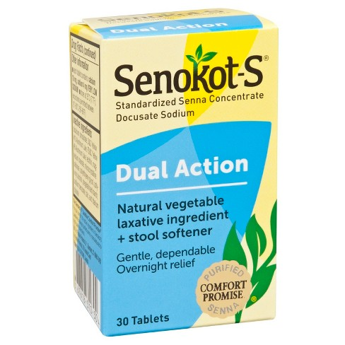 Senokot-S Laxative Plus Softener Tablets 30ct - image 1 of 3