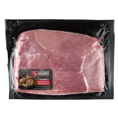 Chairman's Reserve Boneless Pork Tenderloin Medallions - 1lb - price per lb