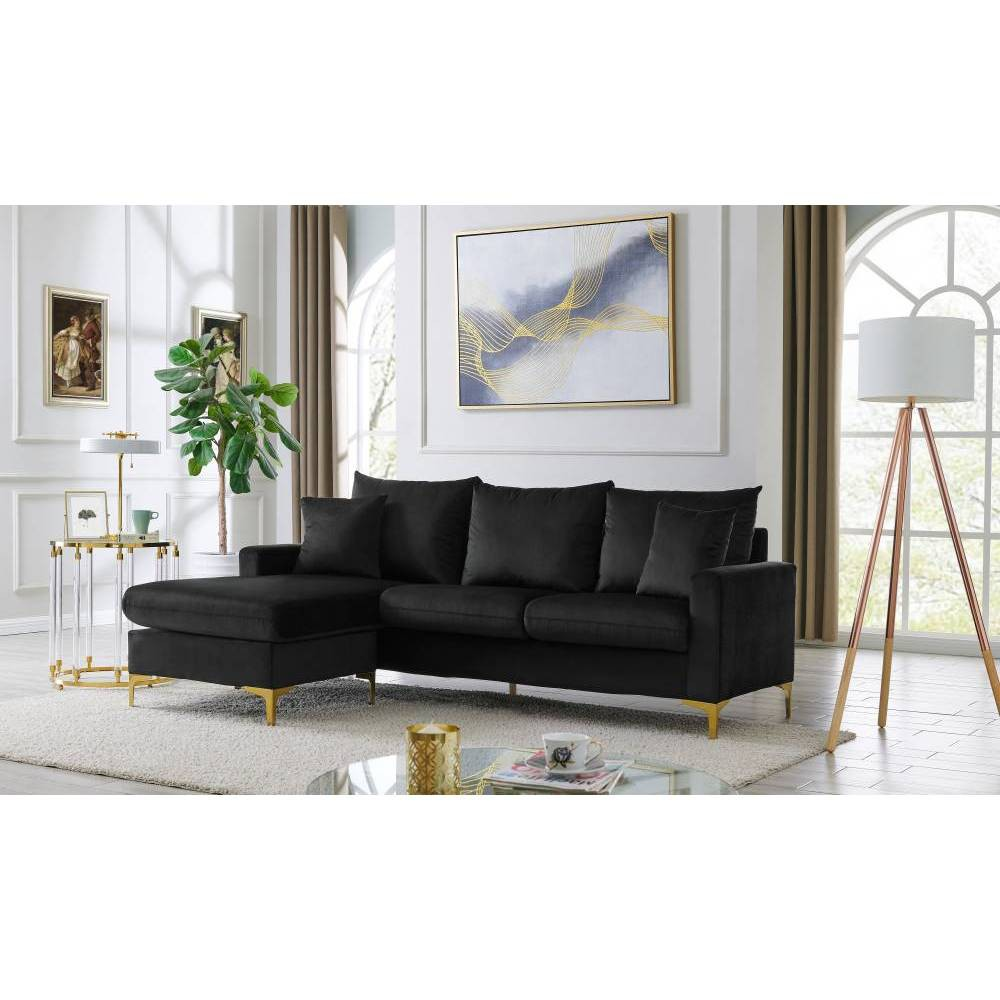 Cromwell Modular Sectional Sofa Black - Chic Home Design Pattern: Solid.