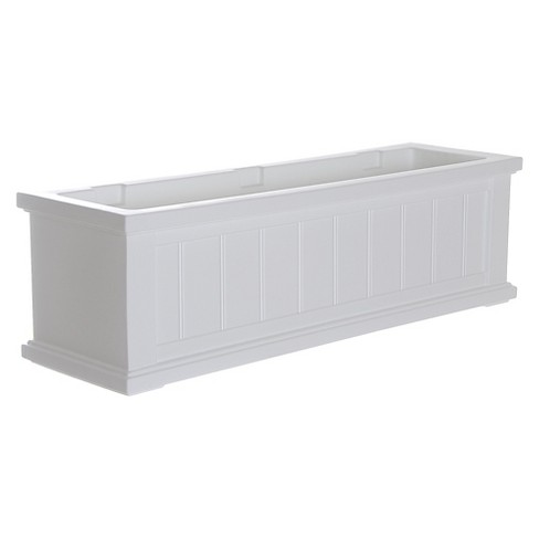 3 Cape Cod Rectangular Window Box White Mayne Target
