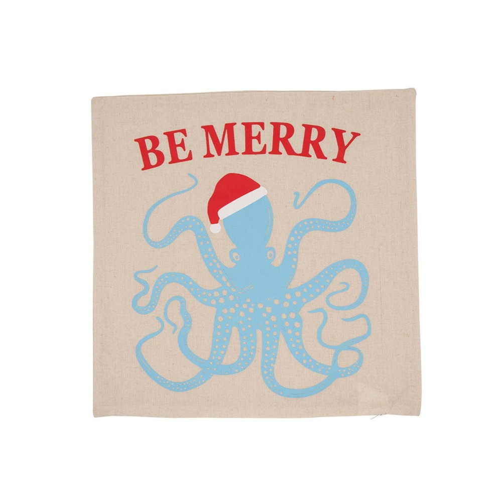 "Image of ""18"""" Octopus Throw Pillow Cover - Glithzhome"""