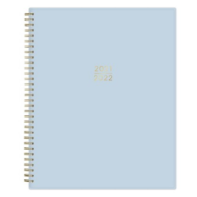 "2021-22 Academic Planner 8.5"" x 11"" Flexible Plastic Cover Wirebound Weekly/Monthly Solid Powder Blue - Kelly Ventura"