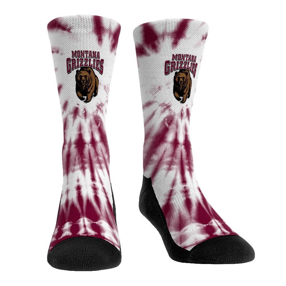 Ncaa Montana Grizzlies Adult Tie Dye Socks L Xl