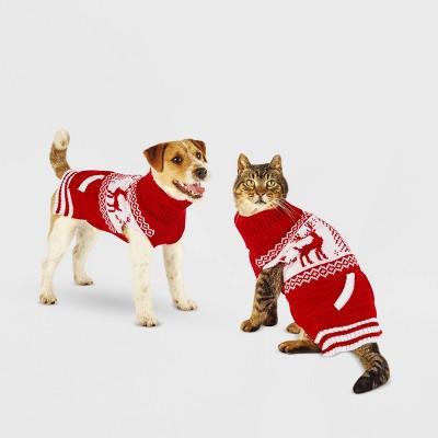 Fair Isle Dog and Cat Sweater - Red - Wondershop™