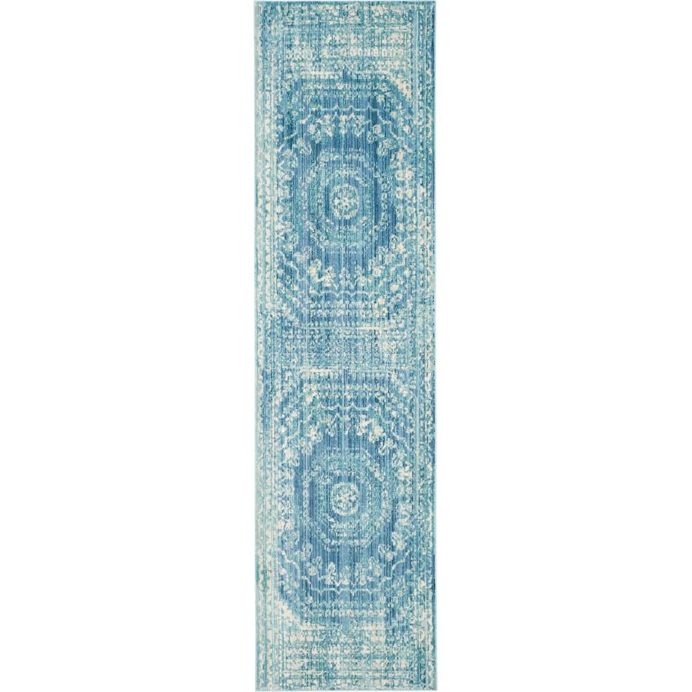 2'3X10' Medallion Loomed Runner Blue - Safavieh, Blue/Multi-Colored