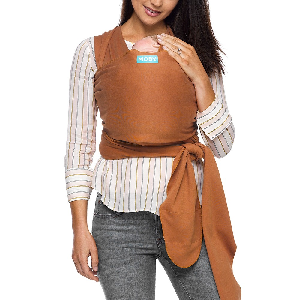 Image of Moby Evolution Wrap Baby Carrier - Caramel