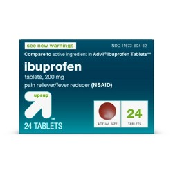 Ibuprofen (NSAID) Pain Reliever & Fever Reducer Tablets - Up&Up™