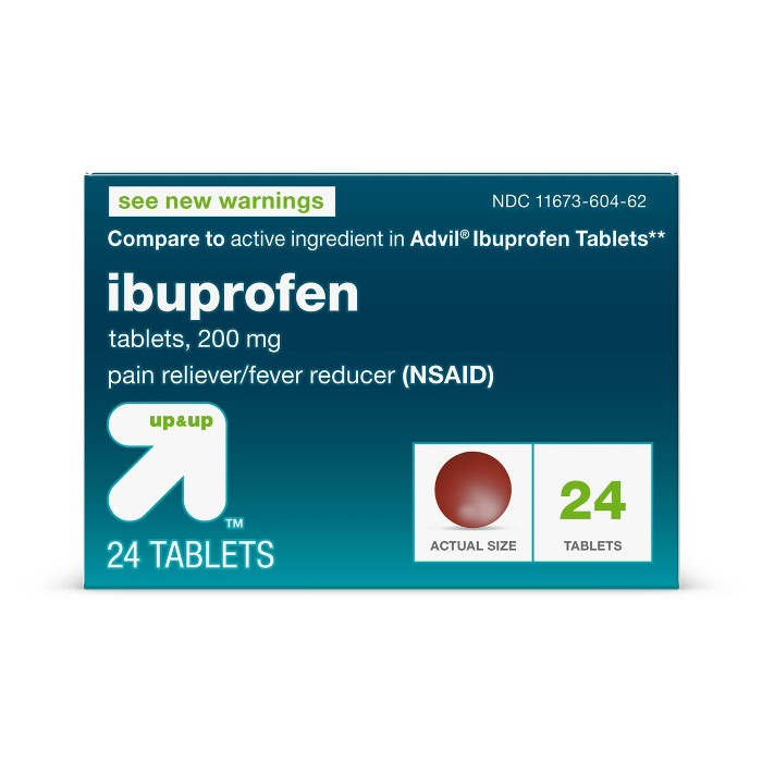 Ibuprofen (NSAID) Pain Reliever & Fever Reducer Tablets - Up&Up™ - image 1 of 5