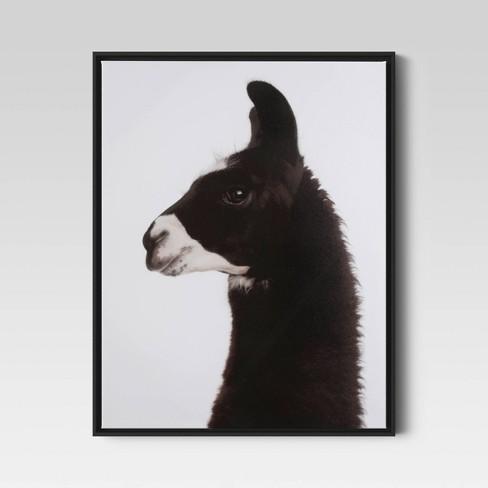 """24""""x30"""" Llama Framed Printed Wall Canvas - Threshold™ - image 1 of 3"""