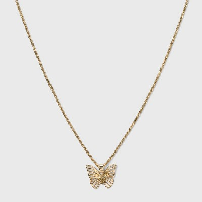 SUGARFIX by BaubleBar Butterfly Pendant Necklace - Gold