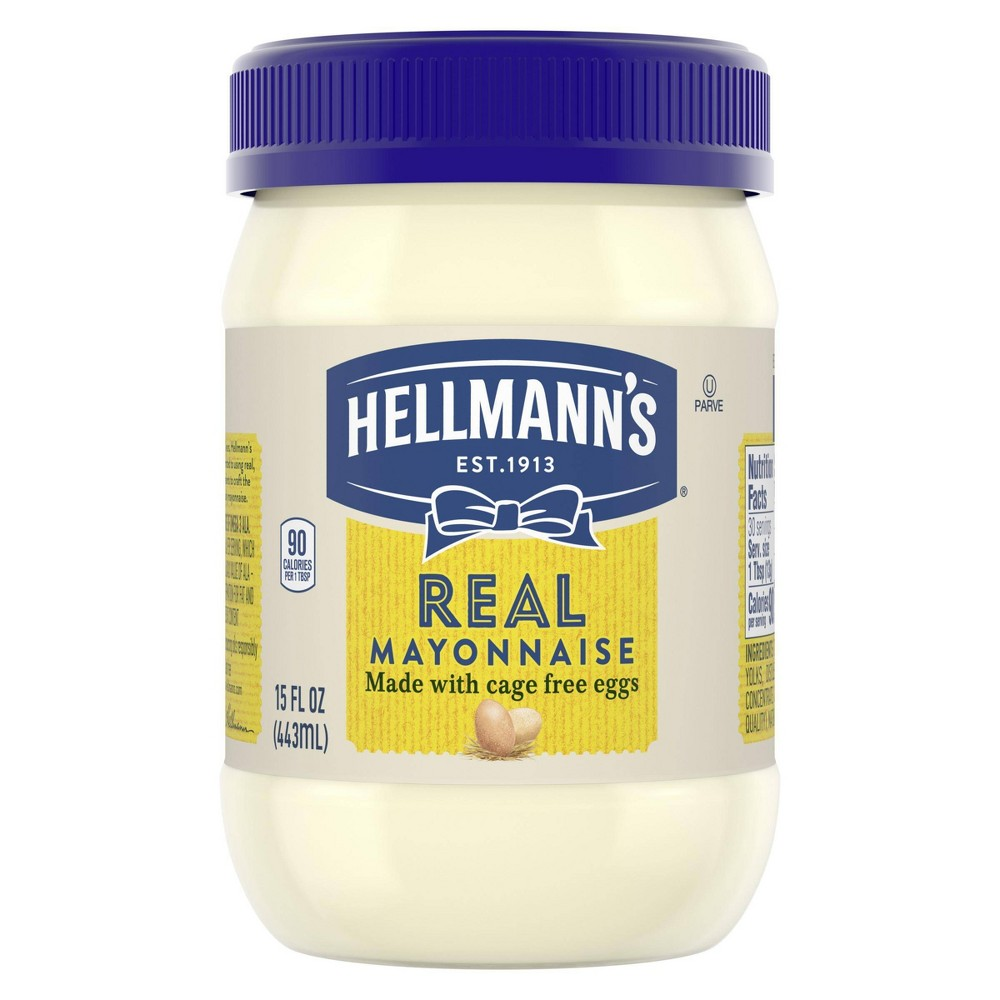 Hellmanns Mayonnaise for Delicious Sandwiches Real Mayo Rich in Omega 3-ALA 15oz Discounts