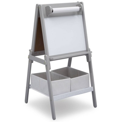Delta Children MySize Double-Sided Storage Easel- Gray