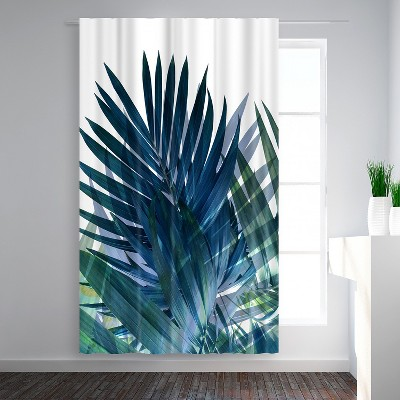 Americanflat Palms Leaves by Emanuela Carratoni Blackout Rod Pocket Single Curtain Panel 50x84